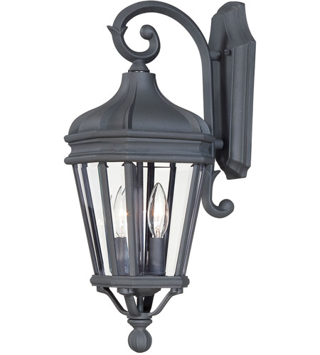 The Great Outdoors by Minka Harrison 2 Light Outdoor Wall Lantern in Black 8691-66 photo