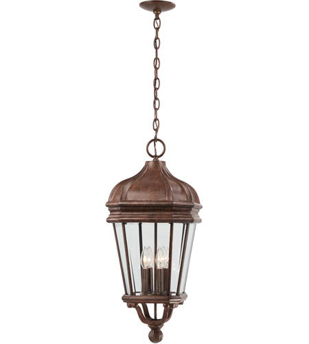 Minka-Lavery 8694-61 Harrison 4 Light 12 inch Vintage Rust Outdoor Chain Hung Lantern photo