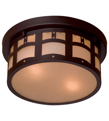 The Great Outdoors by Minka Signature 2 Light Flushmount in Dorian Bronze 8729-A615B photo