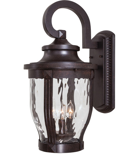 The Great Outdoors by Minka Merrimack 3 Light Outdoor Wall in Corona Bronze 8763-166 photo