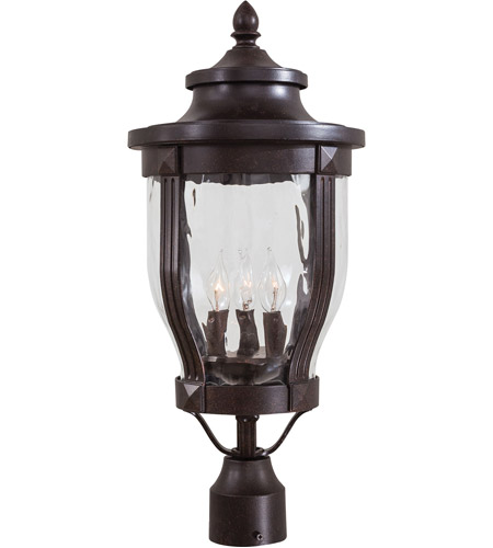 The Great Outdoors by Minka Merrimack 3 Light Post Light in Corona Bronze 8765-166 photo
