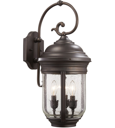 Minka-Lavery 8811-57 Amherst 3 Light 23 inch Roman Bronze Outdoor Wall Mount Lantern photo