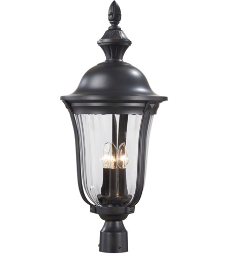 The Great Outdoors by Minka Morgan Park 3 Light Post Light in Heritage 8846-94 photo