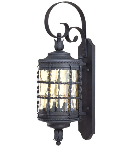 The Great Outdoors by Minka Mallorca 2 Light Wall Lamp in Spanish Iron Textured Black Powder Coat 8881-A39 photo