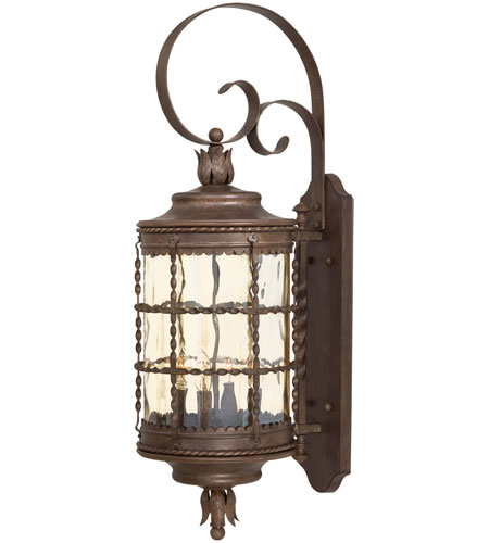 The Great Outdoors by Minka Mallorca 4 Light Wall Lamp in Vintage Rust Powder Coat 8882-A61 photo