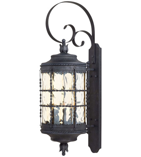 The Great Outdoors by Minka Mallorca 5 Light Wall Lamp in Spanish Iron Textured Black Powder Coat 8883-A39 photo