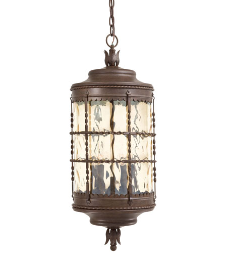 The Great Outdoors by Minka Mallorca 5 Light Outdoor Lighting in Vintage Rust Powder Coat 8884-A61 photo