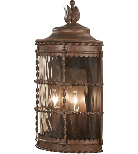 Minka-Lavery 8887-A61 Mallorca 2 Light 20 inch Vintage Rust Outdoor Pocket Lantern photo