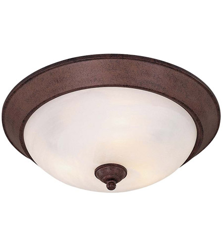 Minka-Lavery 893-91 Signature 3 Light 16 inch Antique Bronze Flush Mount Ceiling Light photo