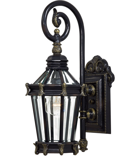 The Great Outdoors by Minka Stratford Hall 1 Light Outdoor Wall in Heritage w/Gold Highlights 8930-95 photo