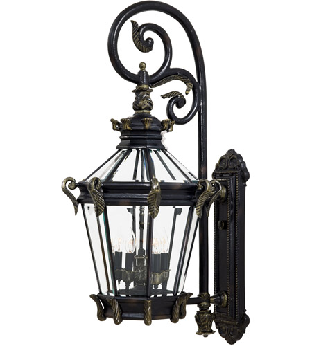 Minka-Lavery 8933-95 Stratford Hall 5 Light 40 inch Heritage/Gold Outdoor Wall Mount Lantern photo
