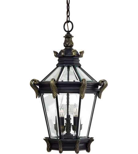 Minka-Lavery 8934-95 Stratford Hall 5 Light 19 inch Heritage with Gold Highlights Outdoor Pendant, The Great Outdoors photo thumbnail