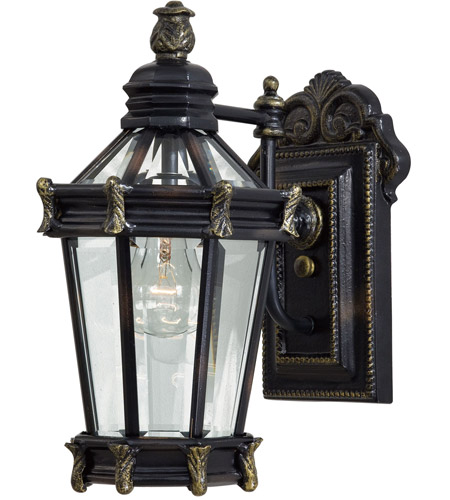 The Great Outdoors by Minka Stratford Hall 1 Light Outdoor Wall in Heritage w/Gold Highlights 8937-95 photo