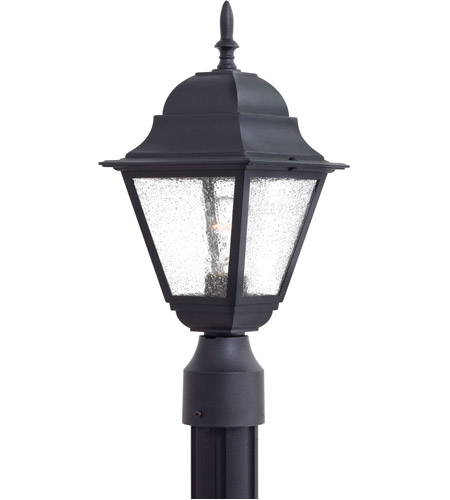 The Great Outdoors by Minka Bay Hill 1 Light Post Mount in Black 9066-66 photo