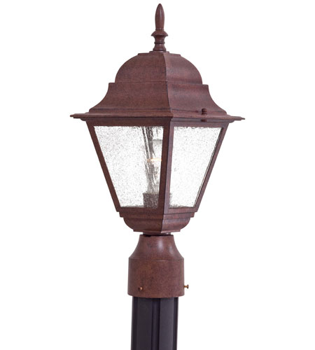 The Great Outdoors by Minka Bay Hill 1 Light Post Mount in Antique Bronze 9066-91 photo