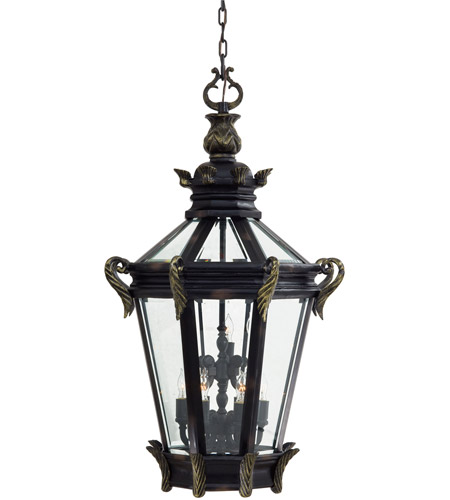 The Great Outdoors by Minka Stratford Hall 9 Light Hanging in Heritage w/Gold Highlights 9094-95 photo