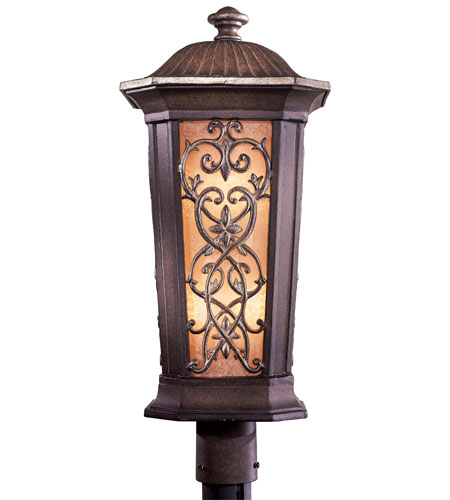 Minka-Lavery Jessica McClintock Outdoor 2 Light Post Light in Ravello Bronze w/Gold Highlights 9116-198B-PL photo