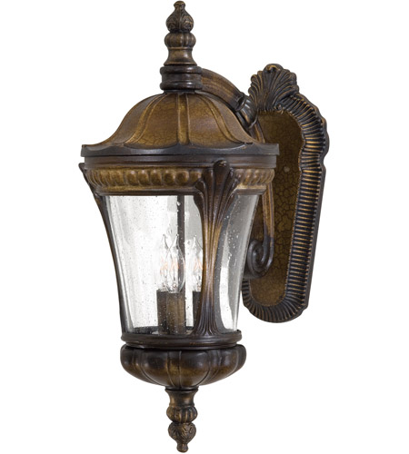 The Great Outdoors by Minka Kent Place 3 Light Outdoor Wall in Prussian Gold 9143-407 photo