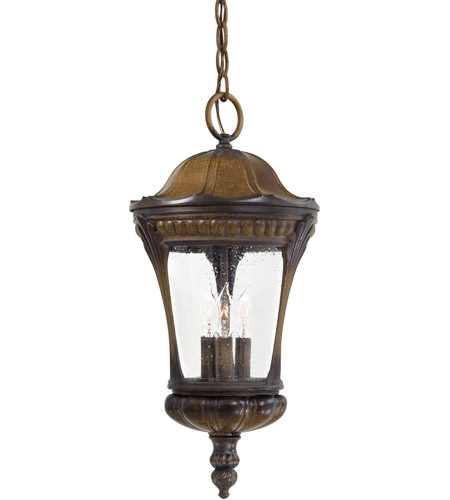 The Great Outdoors by Minka Kent Place 3 Light Hanging in Prussian Gold 9144-407 photo
