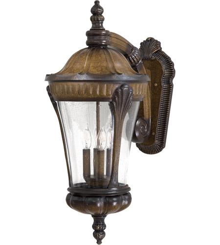 Minka Lavery 9147 407 Kent Place 4 Light 28 Inch Prussian Gold Outdoor Wall Mount Lantern