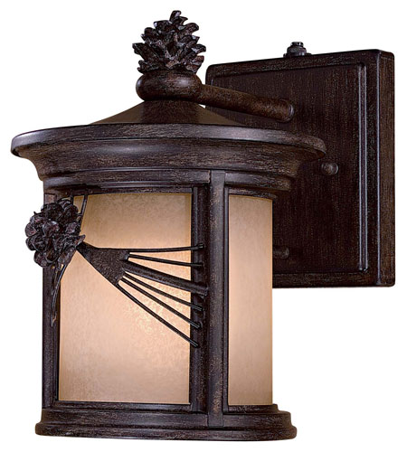 The Great Outdoors by Minka Abbey Lane 1 Light Wall Lamp in Iron Oxide 9151-A357-PL photo