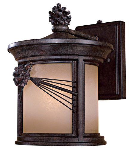 The Great Outdoors by Minka Abbey Lane 1 Light Wall Lamp in Iron Oxide 9152-A357-PL photo