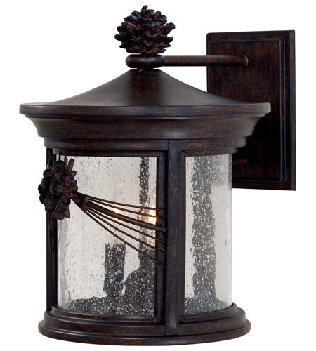 The Great Outdoors by Minka Abbey Lane 3 Light Wall Lamp in Iron Oxide 9153-A357 photo