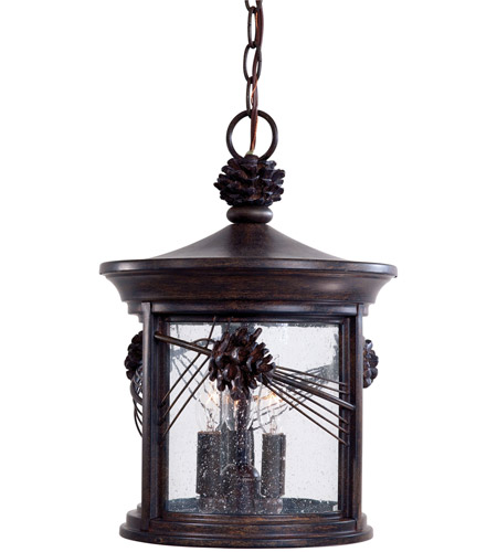 Minka-Lavery 9154-A357 Abbey Lane 3 Light 11 inch Iron Oxide Outdoor Chain Hung Lantern photo