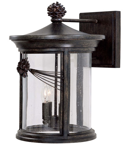 The Great Outdoors by Minka Abbey Lane 4 Light Outdoor Wall in Iron Oxide 9157-357 photo