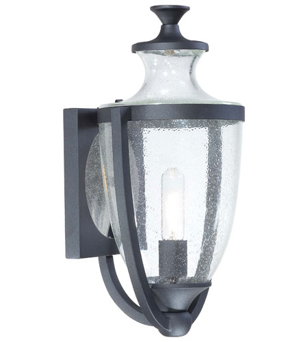 The Great Outdoors by Minka Park Terrace 1 Light Outdoor Wall Lantern in Black 9162-66 photo