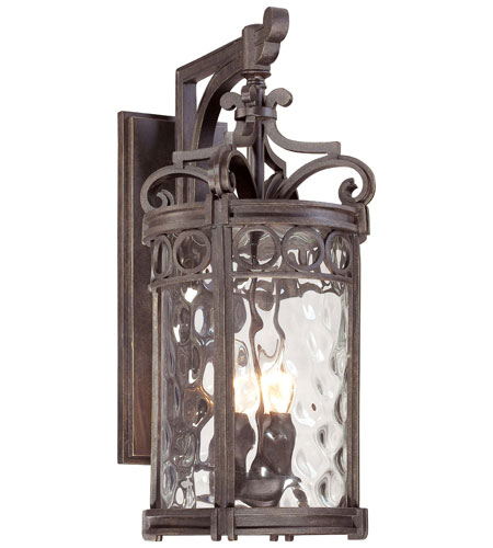 The Great Outdoors by Minka Regal Bay 3 Light Outdoor Wall Lantern in Regal Bay Patina 9223-256 photo