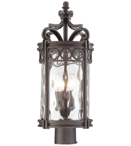 The Great Outdoors by Minka Regal Bay 3 Light Post Mount in Regal Bay Patina 9226-256 photo