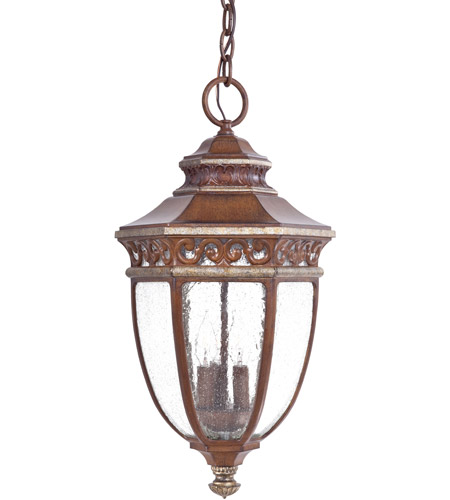 The Great Outdoors by Minka Castle Ridge 3 Light Hanging in Mossoro Walnut w/Silver Highlights 9234-161 photo