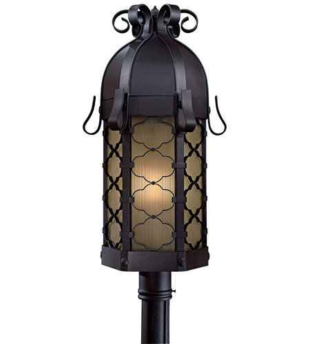 Minka-Lavery 9246-66-PL Montalbo 1 Light 28 inch Black Post Light in Summer Wheat photo