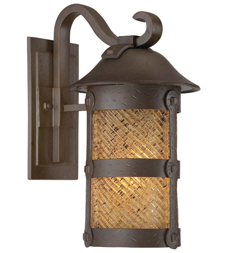 The Great Outdoors by Minka Lander Heights 1 Light Wall Lamp in Forged Iron 9252-A199-PL photo