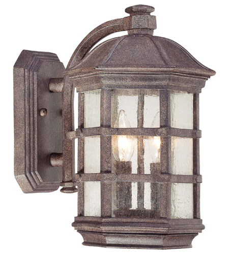 The Great Outdoors by Minka Signature 2 Light Outdoor Wall Lantern in Dark Sienna 9272-277 photo