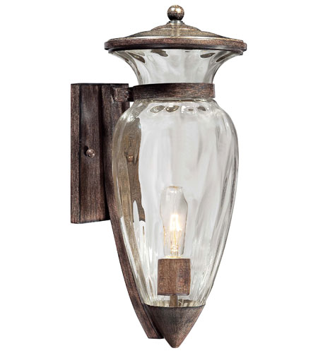 The Great Outdoors by Minka Tuscan Way 1 Light Outdoor Wall Lantern in Iron Oxide 9292-357 photo