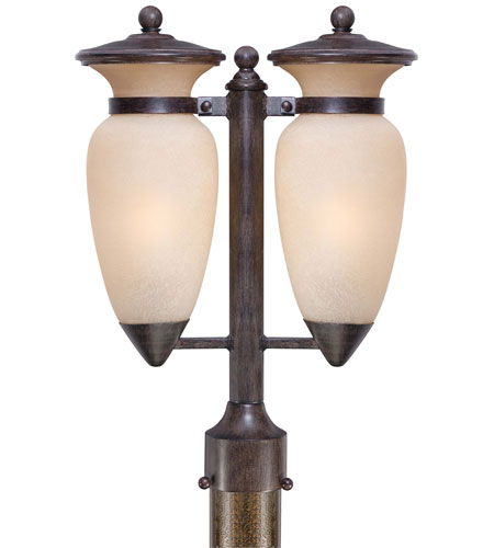 The Great Outdoors by Minka Signature 2 Light Post Light in Iron Oxide 9299-357 photo