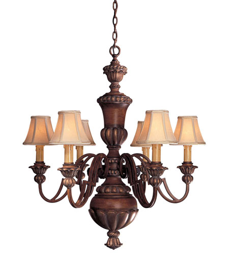 Minka Lavery Belcaro 6 Light Chandelier In Walnut 946 126