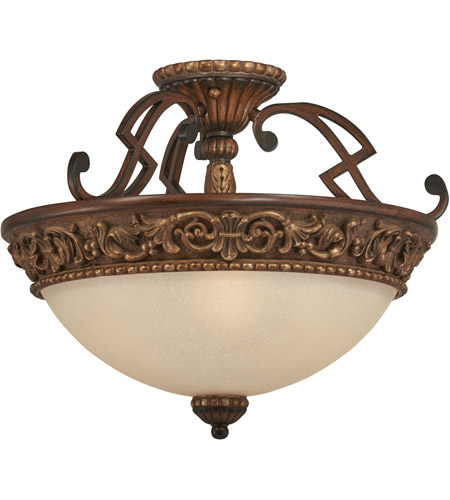 Minka-Lavery 949-126 Belcaro 3 Light 18 inch Belcaro Walnut Semi Flush Mount Ceiling Light photo