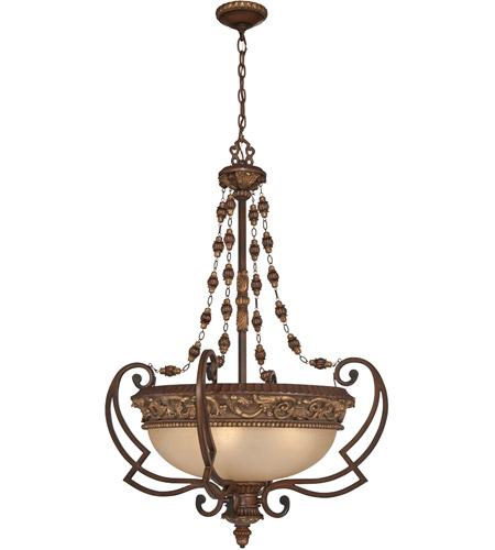 Minka Lavery 953 126 Belcaro 4 Light 29 Inch Walnut Pendant Ceiling