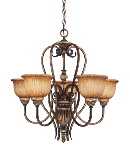 Minka-Lavery Raffine 5 Light Chandelier in Raffine Aged Patina 965-243 photo