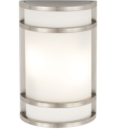 Minka-Lavery 9802-144-PL Bay View 1 Light 12 inch Brushed Stainless Steel Outdoor Wall in GU24 photo