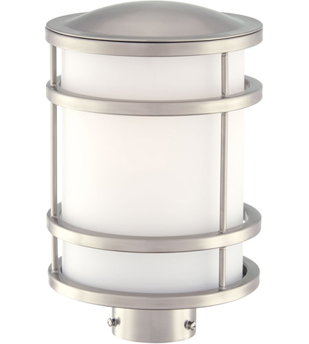 Minka-Lavery 9806-144 Bay View 1 Light 12 inch Brushed Stainless Steel Outdoor Post Mount Lantern  photo