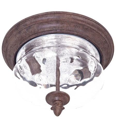 The Great Outdoors by Minka Ardmore 2 Light Flushmount in Vintage Rust 9909-61 photo