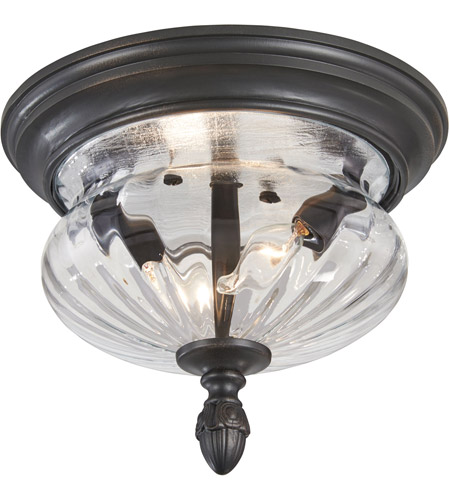 The Great Outdoors by Minka Newport 2 Light Flushmount in Heritage 9909-94 photo