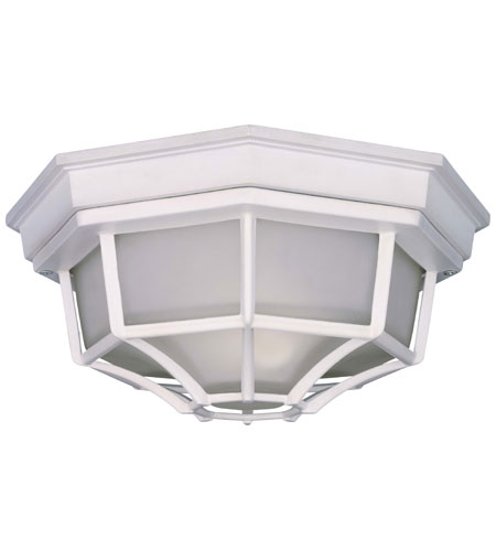 The Great Outdoors by Minka Signature 1 Light Flushmount in White 9928-44-PL photo