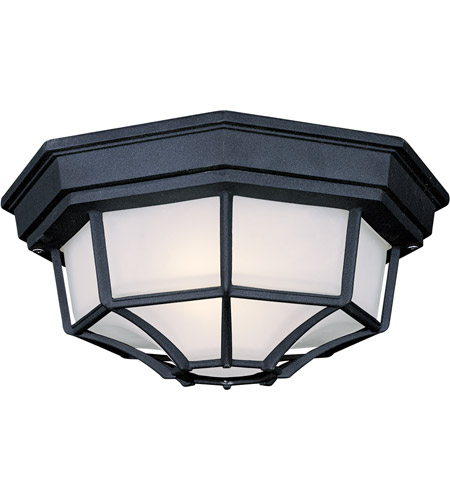 The Great Outdoors by Minka Signature 1 Light Flushmount in Black 9928-66-PL photo