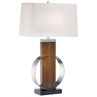Signature 32 inch 100 watt Dip-Dyed Brushed Painting/Polished Nickel Table Lamp Portable Light