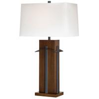 Minka-Lavery 10033-0 Signature 32 inch 100 watt Walnut and Black Table Lamp Portable Light Ambience